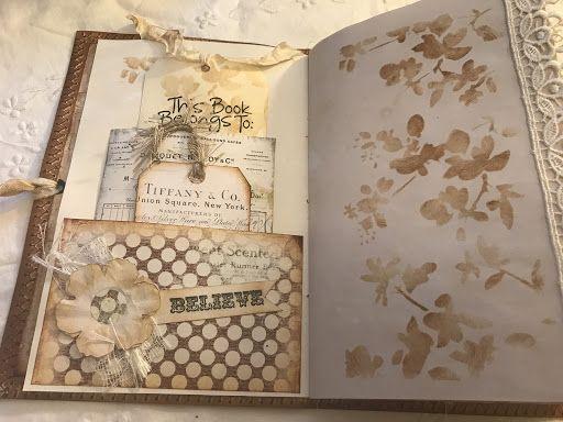 My Little Craftie Corner Vintage Journal Shabby Chic Journal Paper Art Craft