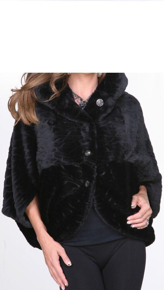 Black Fur Faux Jacket By Lindi - http://aquaboutique.com.au/shop/black-fur-faux-jacket-lindi/