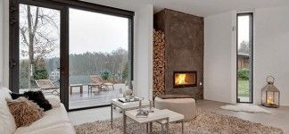 Elegant Living Room Fireplace Luxurious Modern Swedish