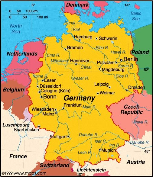 Map of Germany today Germany Map Today – Map of Germany and Surrounding Countries with Cities