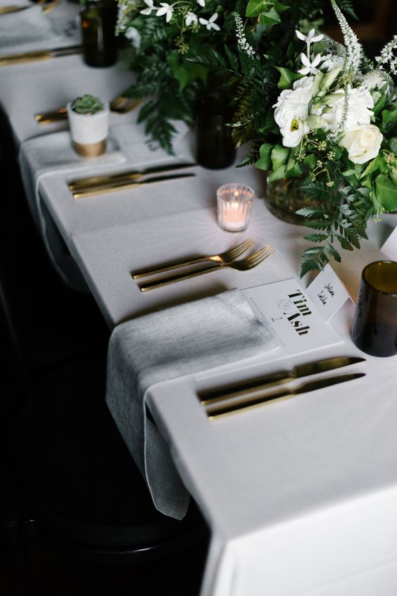 modern wedding decoration - wedding table inspiration