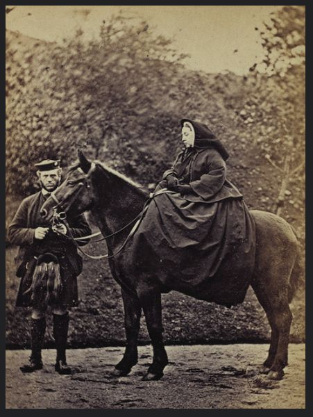 Queen Victoria  with John Brown at Balmoral, 1863, by George Washington Wilson
