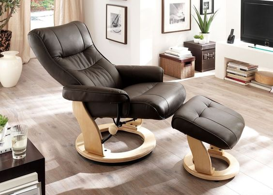 Relaxsessel Montrealo Echt Leder Braun 5802. Buy now at https://www.moebel-wohnbar.de/relaxsessel-montrealo-fernsehsessel-mit-hocker-echleder-braun-5802.html