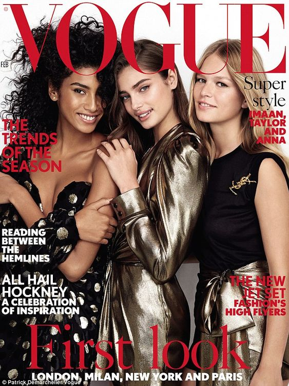 Coming soon: see the full shoot in the February issue of Vogue, on sale Thursday...: