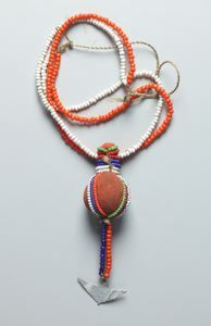 Necklace with charm pouch