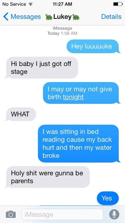 #imagine Going in to labor with Luke's child Part 1