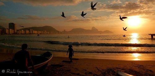 Dawn in Copacabana - Amanhecer em Copacabana - Rio de Janeiro - Brasil | Flickr: Intercambio de fotos