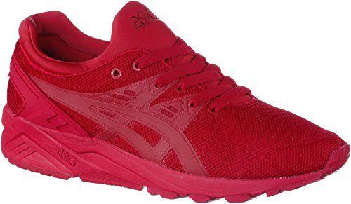 ASICS Damen, Herren Sneaker rot 43 1/2 - http://kameras-kaufen.de/asics/43-5-eu-asics-gel-kayano-trainer-evo-unisex-schwarz