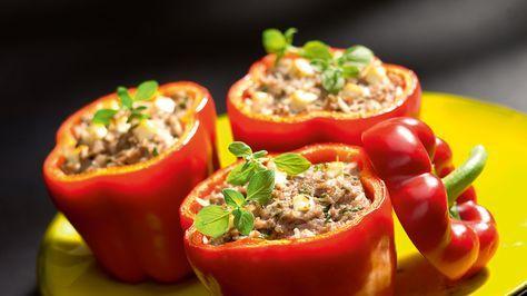 Faszerowane Papryki Z Oliwkami Przepis Recipe Healthy Recipes Food Stuffed Peppers