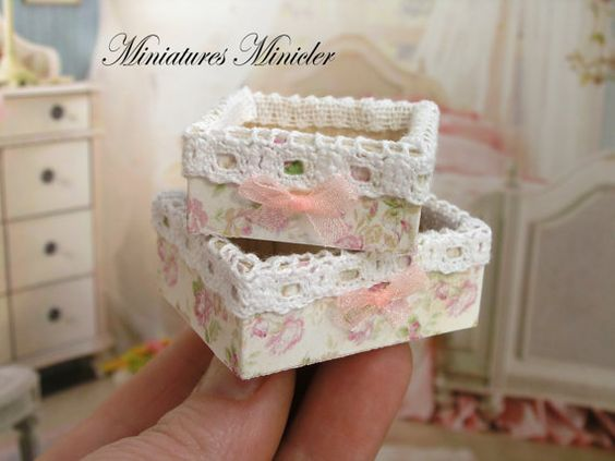 Miniature Dollhouse 2pc Decorative Containers Set by Minicler
