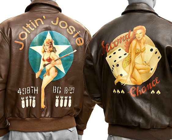 Vintage Bomber Jackets - love the artwork & old school flavour ...