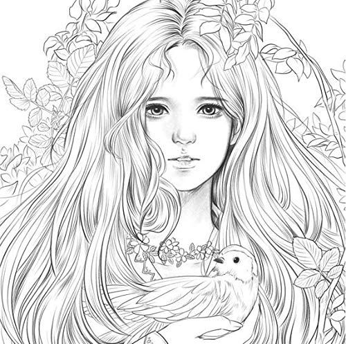 Amazon Com Momo Girl Girls With Music Coloring Book New Version Of Color Healing Book Color Drawing 104 P Fairy Coloring Pages Coloring Pages Colouring Pages