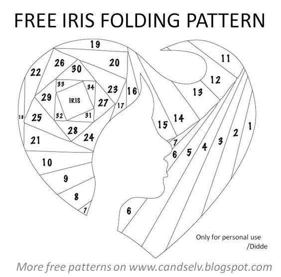 Cand.Selv: Iris folding templates - lots of templates