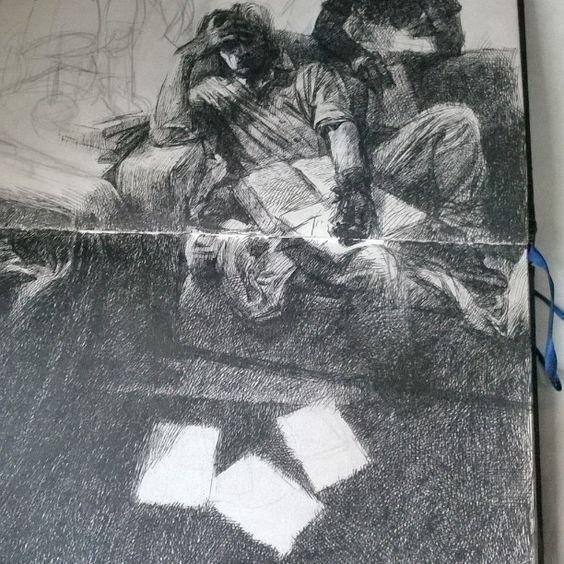 Instagram media by an_anandrk - #ink #drawing for #chaavi. #WIP #sketchbook…