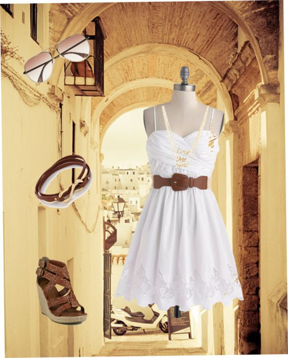 """Trip to Spain"" by hammieb ❤ liked on Polyvore"