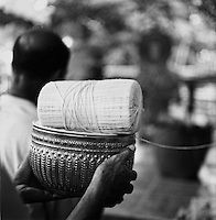 string at Laotian funeral