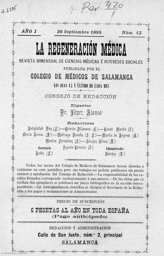 Revista salmantina de medicina.
