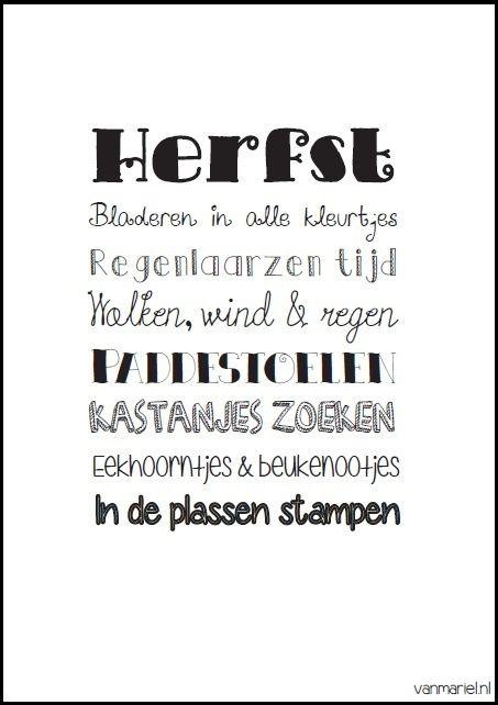 Herfst - #Fall - #herbst - Buy it at www.vanmariel.nl - Poster € 3,95 - Card € 1,25