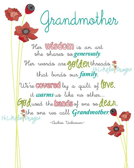 Grandmothers grandmother poem and poem on pinterest for What to get grandma for mother s day