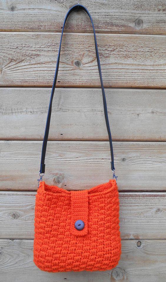 Free Crochet Pattern For Cross Body Bag : Crochet cross body bag crochet Pinterest Bags, So ...
