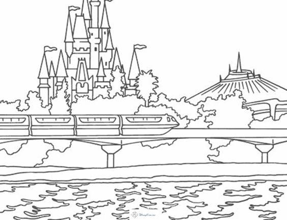 Magic Kingdom - Monarail, Space Mountain, Cinderella's ...