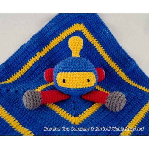 Knitting Pattern For Security Blanket : Robot Security Blanket Crochet Pattern knit Pinterest ...