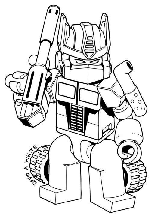 Angry Bird Transformers Bumblebee Coloring Pages Transformers