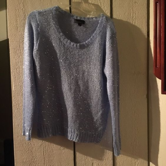 Blue sparkly sweater Beautiful blue sweater with sparkles on it ...