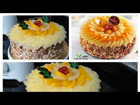تورتة لابوار الكريمة والفواكه بمنتهى السهولة فى البيت للمبتدئين Youtube Food Breakfast Muffin
