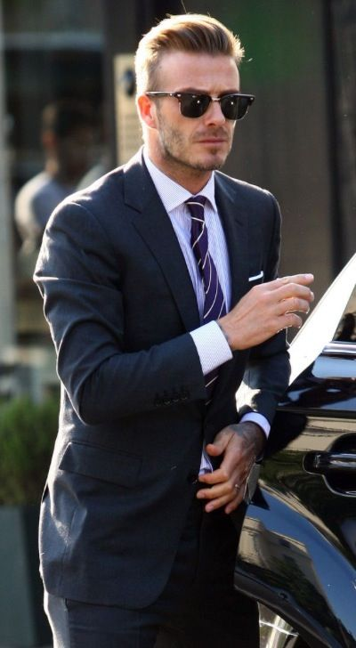 Stylish Navy Blue Suit #DavidBeckham #Suited | Men fashion