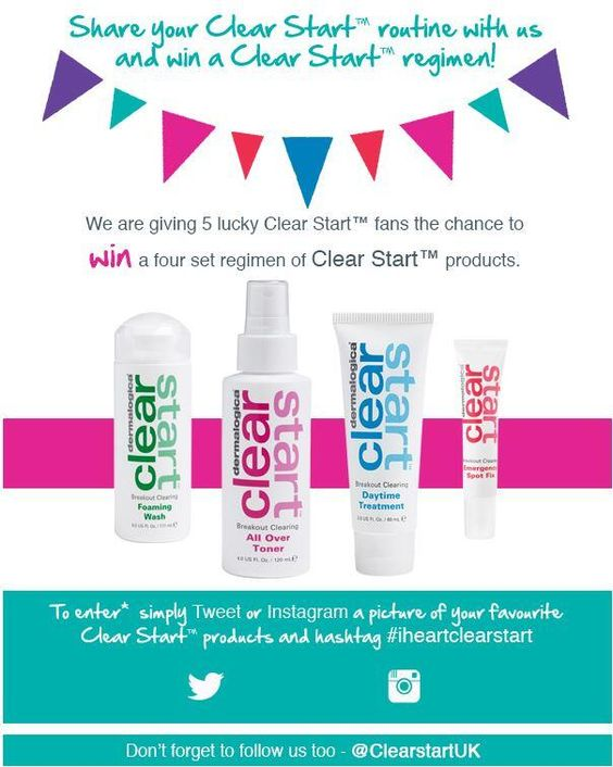 Want to win a #ClearStart regimen? RT & enter as per the instructions in the picture! Happy Easter! #iheartclearstart pic.twitter.com/MH8cqLOokH