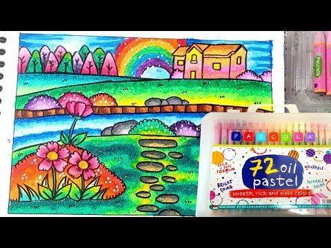 Cara Menggambar Dan Mewarnai Pemandangan Dengan Crayon Pascola