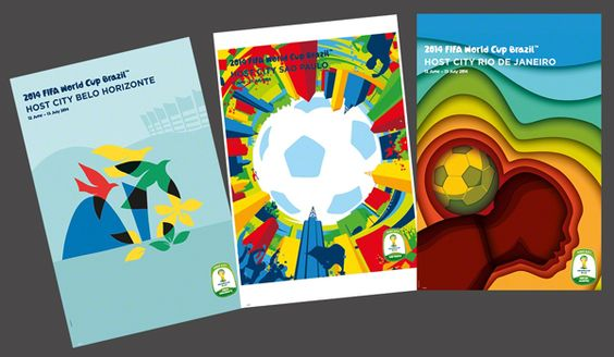 FIFA World Cup 2014 Official Venue Posters - Rio, Sao Paolo, Belo Horizonte -Available at www.sportsposterwarehouse.com