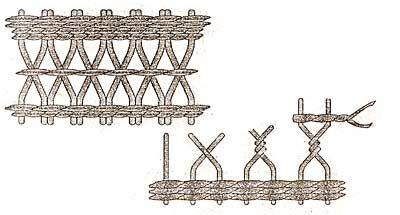 Корзина для бумаг. Детали плетения