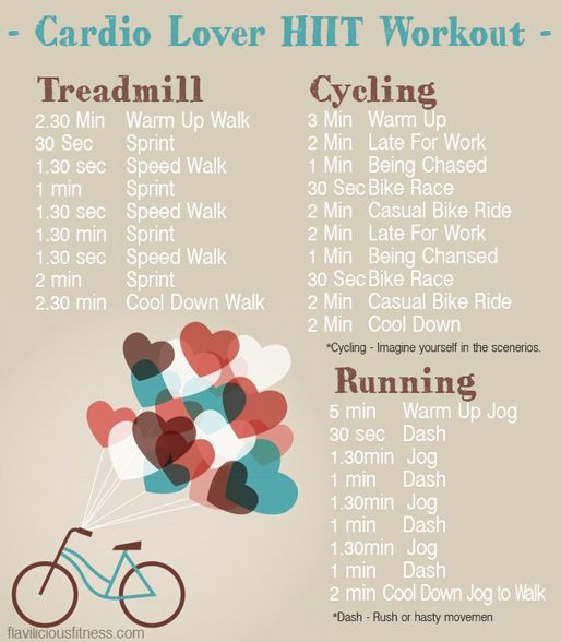HIIT Cardio Workout Rutine