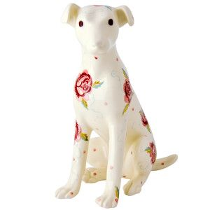 Rose & Bee Terrier Statue Right 2016