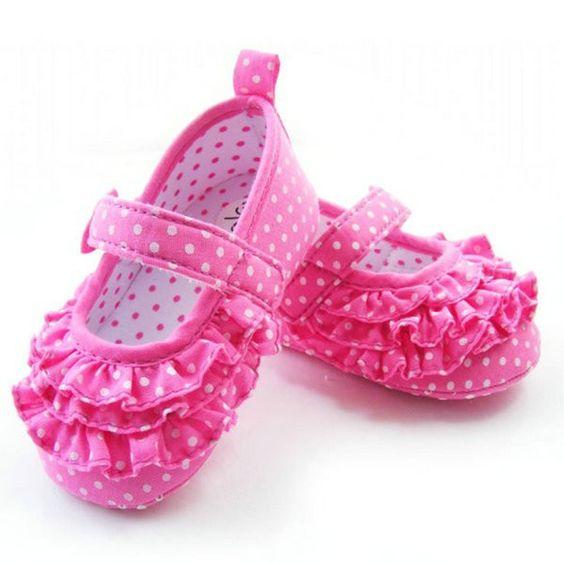 Bebê Menina macia Sole Berço sapatos criança sneaker bebê Sapatos Idade 0-18 meses Tamanho 11 12 13 Características: 100% Brand ...