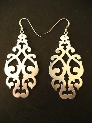 Damask earrings by Avital Lang