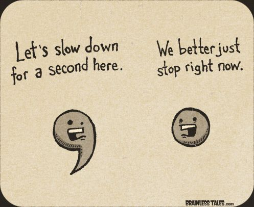 commas and periods...cute!
