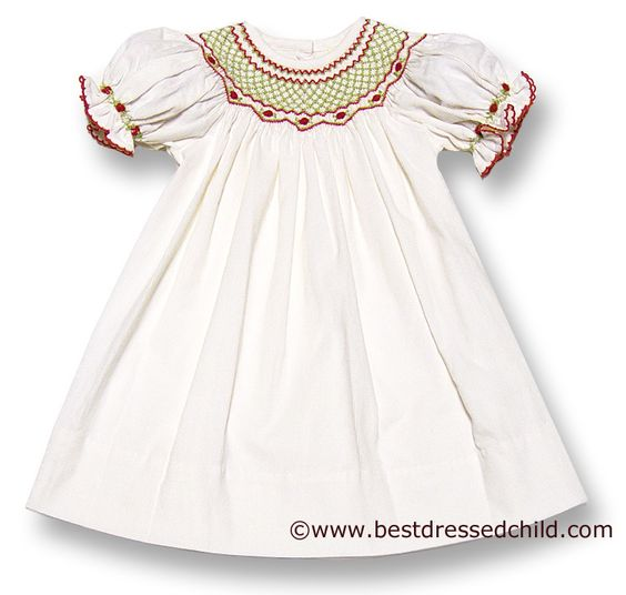 LeZaMe Baby / Toddler Girls Winter White Corduroy Bishop Dress ...