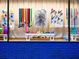 Image result for window display with children drawing