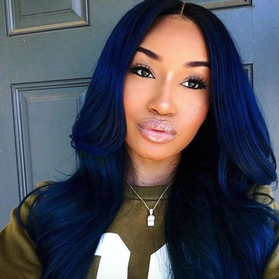 blue black hair and midnight blue hair on pinterest