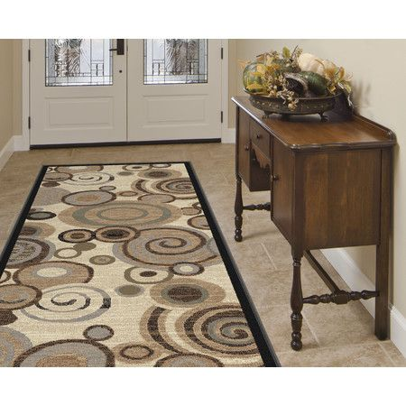 Found It At Wayfair Festival Faded Swirl Ivory Brown Area Rug