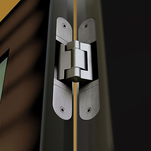 Tectus hinge installation photo showing concealed te540 - Hinge placement on exterior door ...