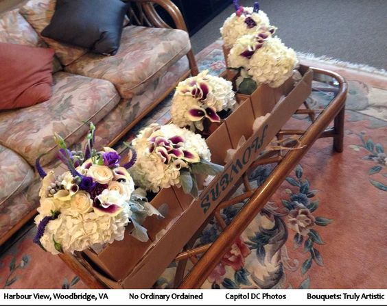 Winter weather. Bouquets by: Truly Artistic.