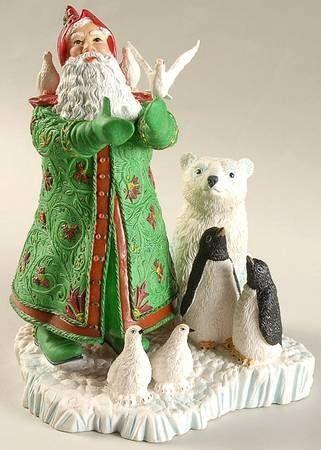 "Lenox Vintage 1996 Christmas 7"" Figurine of ""Santa's Gift of Peace"". #Lenox #Statue #Sculpture #Figurine #Decor #Gift #gosstudio .★ We recommend Gift Shop: http://www.zazzle.com/vintagestylestudio ★"