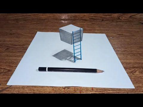Cara Menggambar 3 Dimensi Keren Dan Mudah Youtube Cara Menggambar Ilusi Optik Gambar