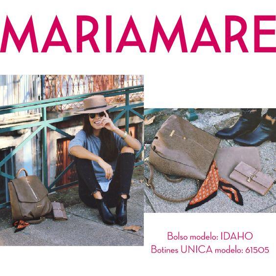 Versátil, cómodo y sobre todo práctico, así es el bolso IDAHO. Anita & the blog lo combina a la perfección con los botines UNICA modelo 61505. Un look informal para un día a día.  #BloggerbyMariamare #Mariamare