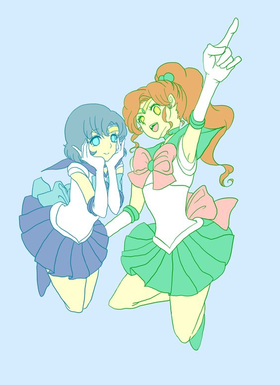 Mercury and Jupiter by みめっと