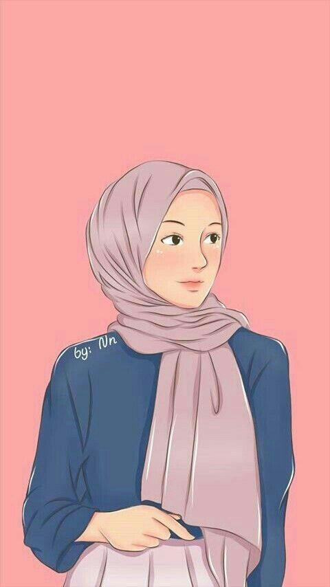Wallpaper Lockscreen Gratis Girls Cartoon Art Hijab Cartoon Islamic Cartoon Cool Muslim women wallpapers